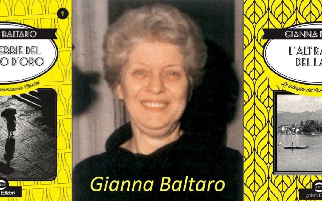 Gianna Baltaro: esordio e recupero della giallista torinese.
